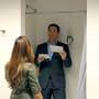 Tony and Ziva in the Bathroom