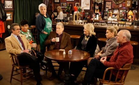 The Gang at Phil's on New Years - Murphy Brown Season 11 Episode 13