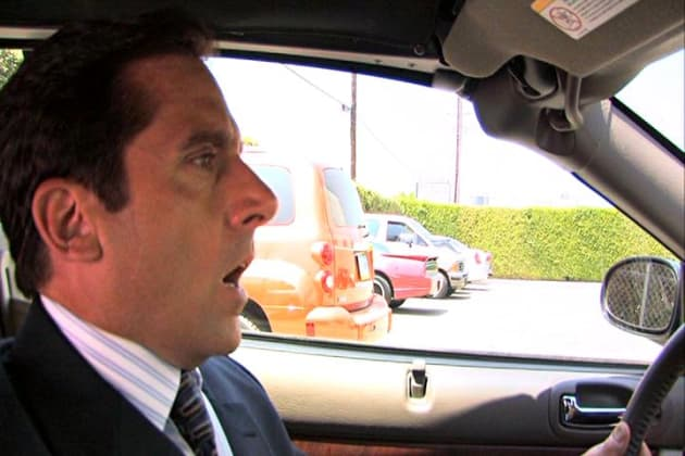 Michael Running Over Meredith - The Office
