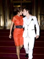 Ed Westwick and Helena Christensen