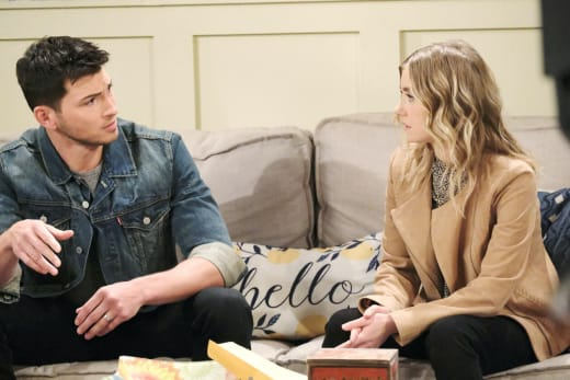 Ben Confides In Claire - Days of Our Lives