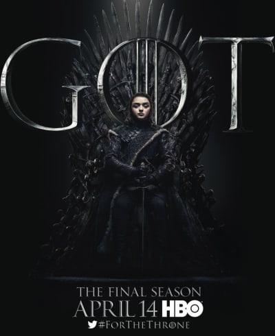 Arya on the Iron Throne - Game of Thrones