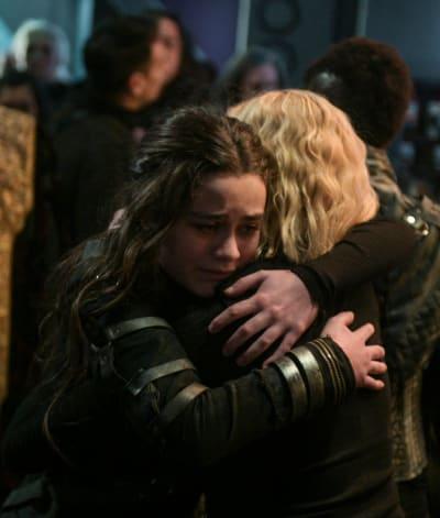 Madi and Clarke  - The 100 Season 6 Episode 13