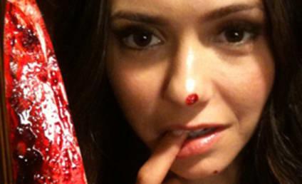 Nina Dobrev: Bloody on Set!