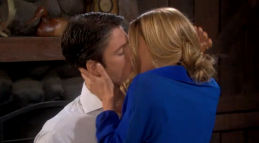 EJ and Abby Kiss