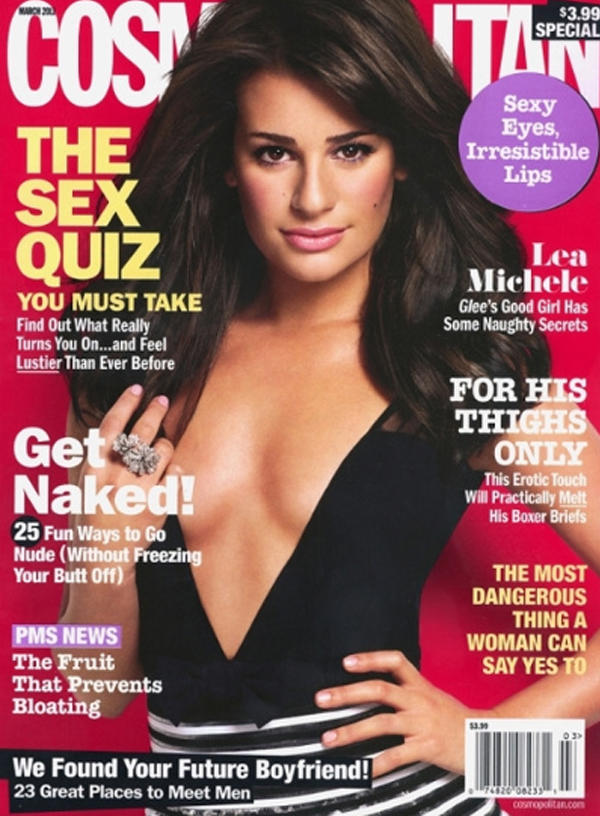 Lea Michele  on Cosmo