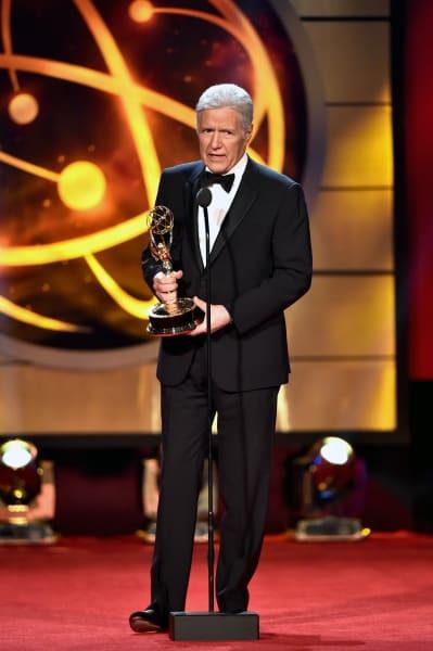 Alex Trebek Accepts Daytime Emmy Award