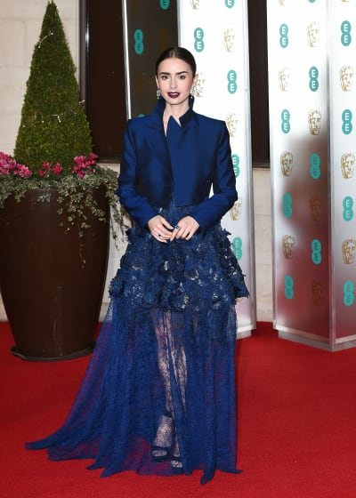 Lily Collins Attends Event