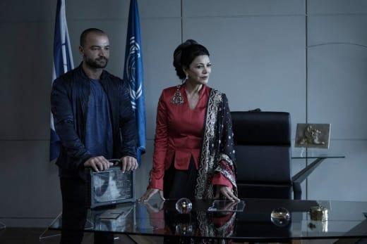 Undersecretary Avasarala and  Cotyar - The Expanse Season 2 Episode 11