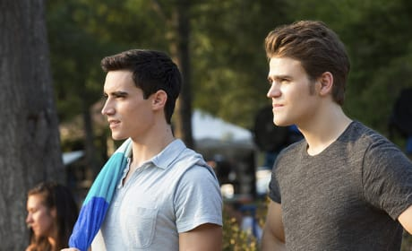 Liam and Stefan at the Swimming Hole - The Vampire Diaries