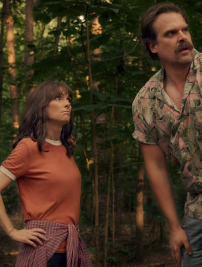 Joyce and Hopper on a Mission - Stranger Things
