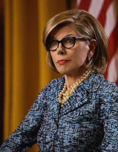 Diane at Grand Jury Vertical - The Good Fight Season 1 Episode 7