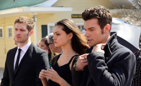 Hayley, Elijah and Klaus in Black