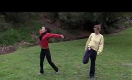 Cristina and Meredith Jogging