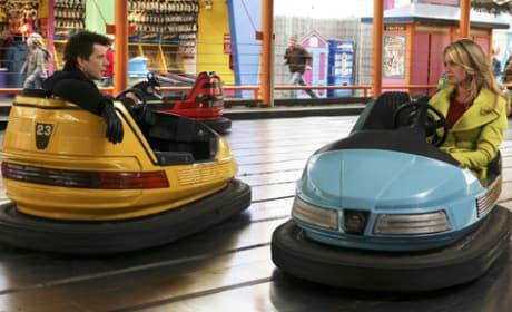 Alexis and Daniel in Bumper Cars