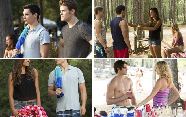 Liam and stefan at the swimming hole the vampire diaries