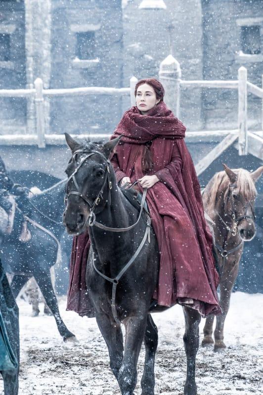 Melisandre at Castle Black - Game of Thrones