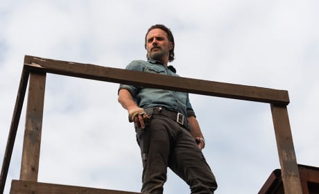 Rick on lookout - The Walking Dead Season 7 Episode 16