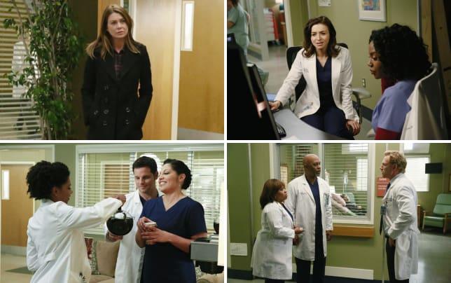 Meredith arrives at the hospital greys anatomy s11e22