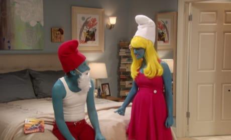 A Halloween Smurf