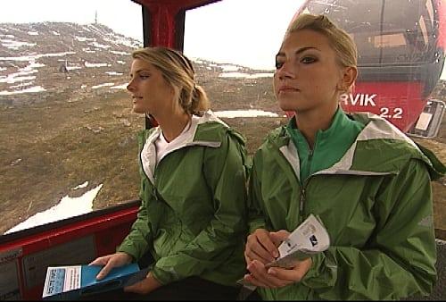 Katie and Rachel Ride the Gondola