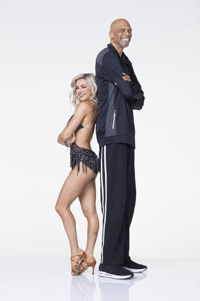 Kareem Abdul-Jabbar and Lindsay Arnold