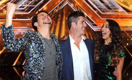 Alex & Sierra with Simon Cowell