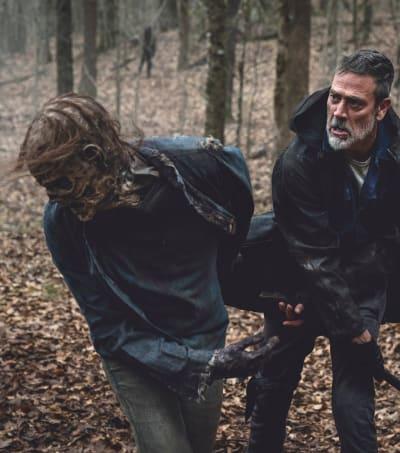 Negan Fights Back  - The Walking Dead