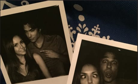 Nina Dobrev with Ian Somerhalder