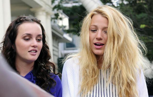 Photo of Blake and Leighton on Set