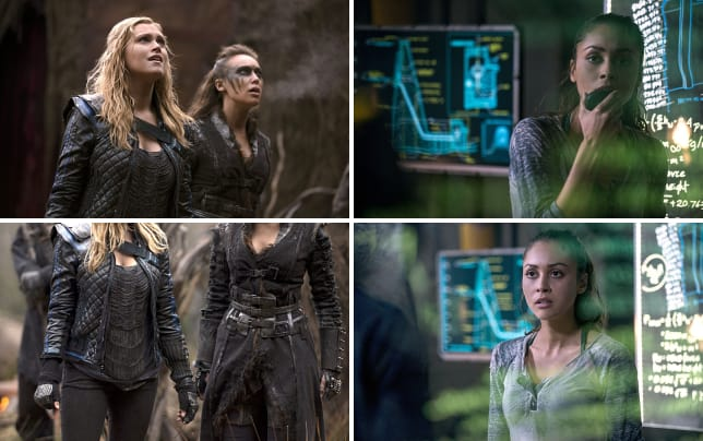 Clarke and lexa feel the heat the 100 s2e14
