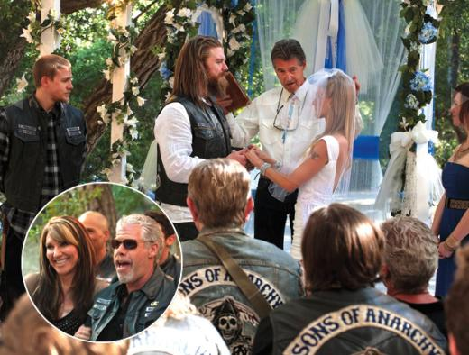 Sons of Anarchy Wedding Pic