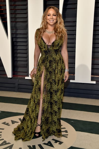 Mariah Carey Attends Oscars Party