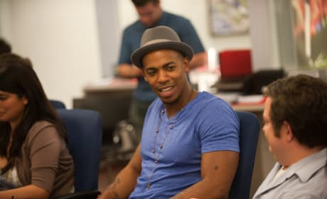 Mehcad Brooks on Set
