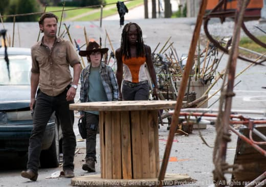 Rick, Carl and Michonne