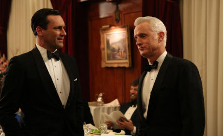 Don and Roger in Tuxes