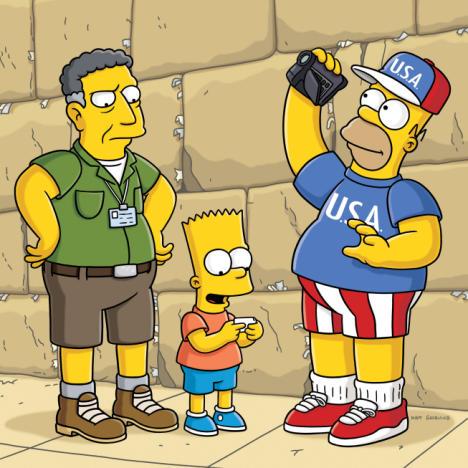 Sacha Baron Cohen on The Simpsons