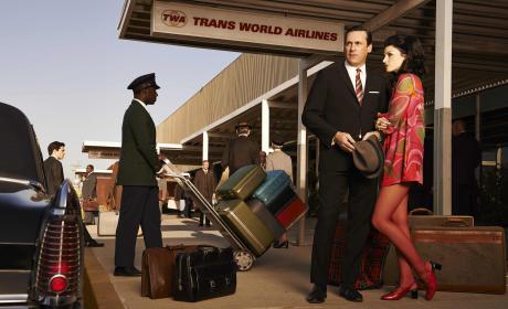 Don and Megan at the Airport