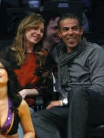 Snuggling Up Courtside