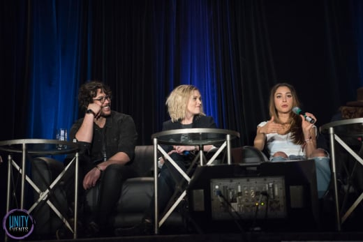 Bob Morley, Eliza Taylor, Lindsey Morgan - Unity Days - The 100