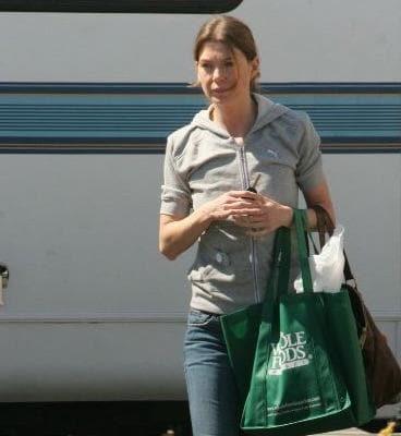 Ellen Pompeo on Set