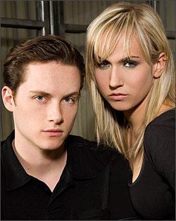 Jesse Soffer and Jennifer Landon