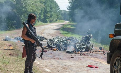 Daryl with a Rocket Launcher - The Walking Dead