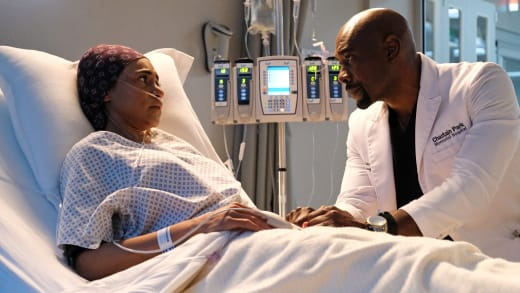 Cain Comforts Rose - The Resident Season 4 Episode 12