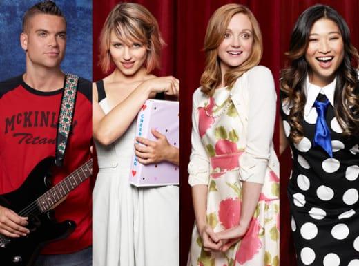 Jenna Ushkowitz, Jayma Mays, Mark Salling and Dianna Agron pics
