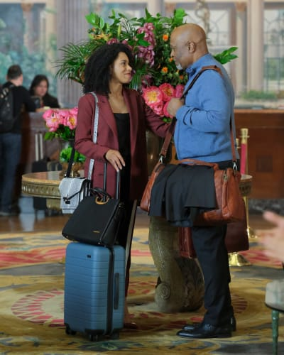 Maggie and Richard in LA - Grey's Anatomy Season 16 Episode 19