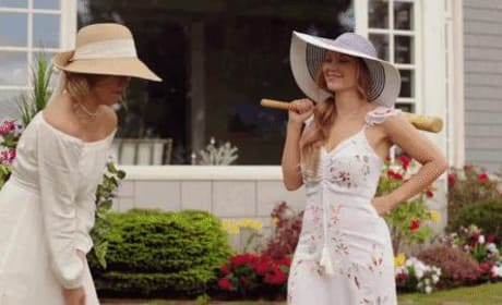Jess and Bree playing Croquet - Chesapeake Shores Season 3 Episode 4