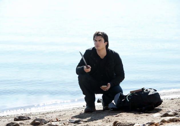 Damon with a Machete