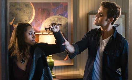 Bonnie Fights Stefan - The Vampire Diaries Season 8 Episode 11