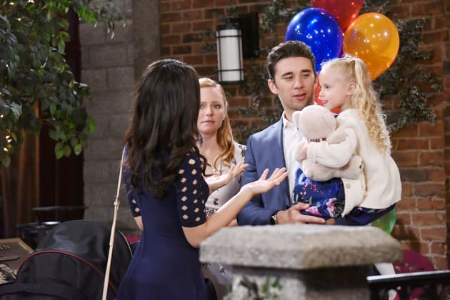 Abigail Worries About Gabi and Chad - Days of Our Lives